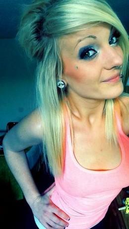 Stunning blonde teen (18+) in hot..