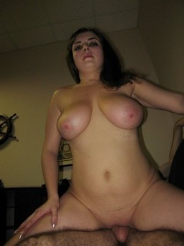 Chubby brunette with huge boobs having..
