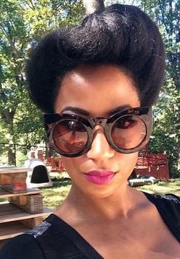 Ebony milf in the glasses