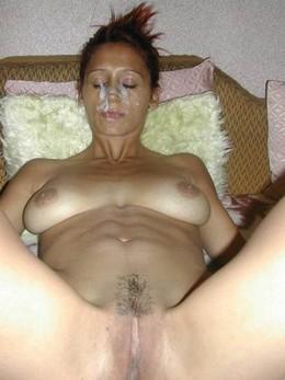 Homemade porn - beauty got a facial :)