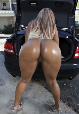 Sexy black girl with thick ass.
