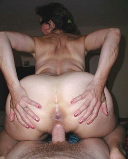 Passionate wife with a huge butt..