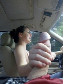 She missed the gear shift stick..
