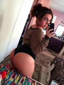 Naughty college teen taking self-shot..
