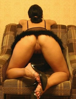 Adorable brunette wife showing her..