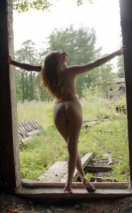 Mariya walking naked in the village