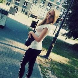 Lovely blonde butt in photo.