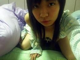 Selfshot cute asian pussy masturbation.