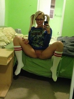 Perky teenage girl self shot