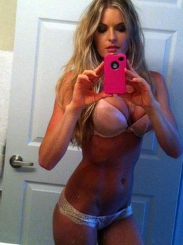 Amateur selfshot of nasty blonde with..