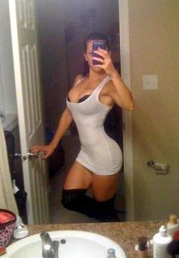 Naughty bimbo selfshot her big ass and..