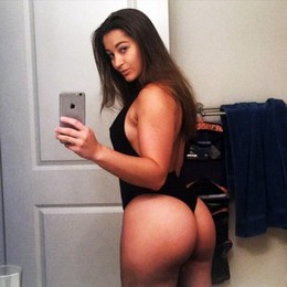Amateur sexy selfshot in hot thong on..