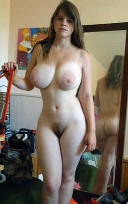 Nice girl is naked.