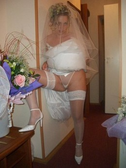 Bride after wedding ceremony - free..
