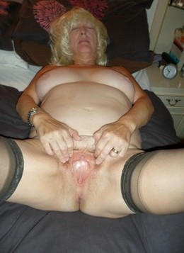 Naked granny wet and ready