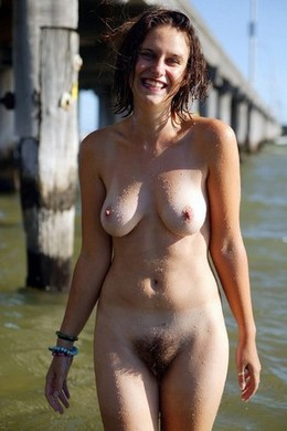 Wonderful hairy nudist woman..